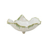 VIETRI: Foglia Stone White Footed Small Serving Bowl
