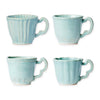 VIETRI: Incanto Stone Aqua Assorted Mugs - Set of 4