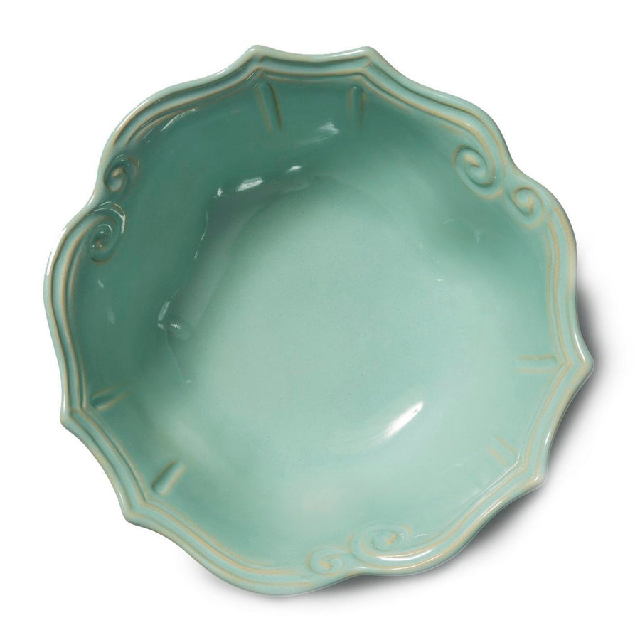VIETRI: Incanto Stone Aqua Baroque Medium Serving Bowl