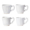 VIETRI: Incanto Stone White Assorted Mugs - Set of 4