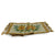 WOVEN TAPESTRY: Table Runner with sunflower and decorative tassels - Natural/Gold