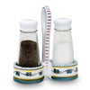 ORVIETO GREEN ROOSTER: Salt and Pepper Cruet (Glass Shakers) [R]