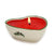 MONDIAL CANDLES: Heart Shaped Ceramic Candle with Garland Design - Unscented ( 7 Oz)
