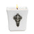 MONDIAL CANDLES: BIANCA Collection - Ceramic Square Container Candle with Fairy Flower Girl Woman Ornament