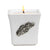 MONDIAL CANDLES: BIANCA Collection - Ceramic Square Container Candle with Ant. Silver Racing Horses Ornament