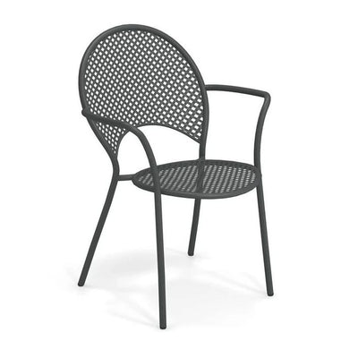EMU ITALY: SOLE - Outdoor/Indoor Iron Black Chair