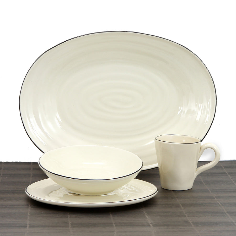 SPIRALE Collection: Dinnerware Set of 9 Items