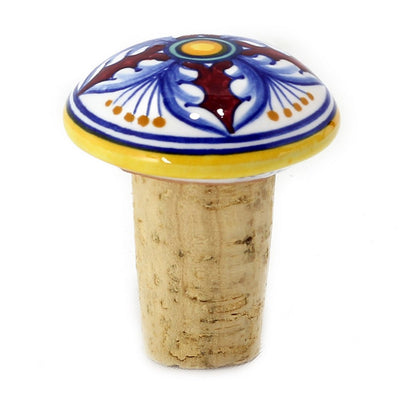 DERUTA CORK STOPPERS: Assorted Hand Painted Designs (6 Pcs) [R]