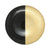 VIETRI: Two-Tone Glass Black & Gold Dinner Plate