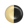 VIETRI: Two-Tone Glass Black & Gold Salad Plate