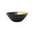 VIETRI: Two-Tone Glass Black & Gold Cereal Bowl