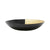 VIETRI: Two-Tone Glass Black & Gold Small Bowl