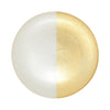 VIETRI: Two-Tone Glass White & Gold Dinner Plate