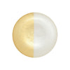 VIETRI: Two-Tone Glass White & Gold Salad Plate