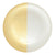 VIETRI: Two-Tone Glass White & Gold Platter