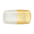 VIETRI: Two-Tone Glass White & Gold Rectangular Tray