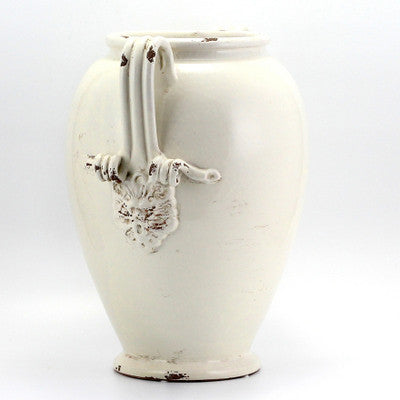 SCAVO CLASSICO: Umbrella Stand Vase ANTIQUE WHITE