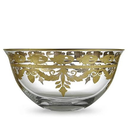 ARTE ITALICA: Vetro Gold Serving Bowl