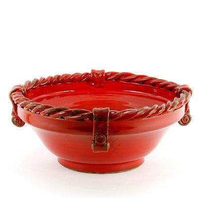 SCAVO CORDA: Bowl Large SELENIO RED