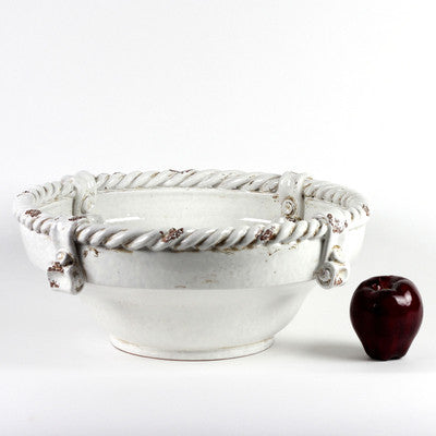 SCAVO CORDA: Bowl Large WHITE