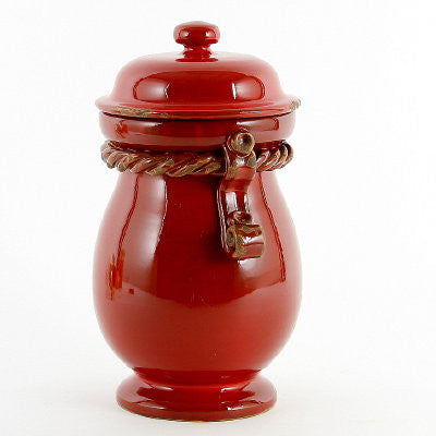 SCAVO CORDA: Canister Large SELENIO RED
