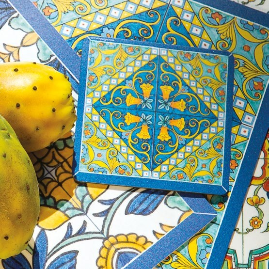 ITALIAN DREAM: Placemats + Coasters (Set of 4 ea) - Design POSITANO/F [R]