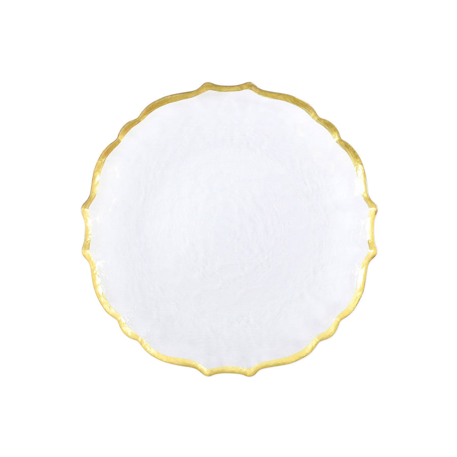 VIETRI: Baroque Glass Clear Salad Plate