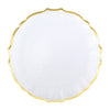 VIETRI: Baroque Glass Clear Service Plate/Charger