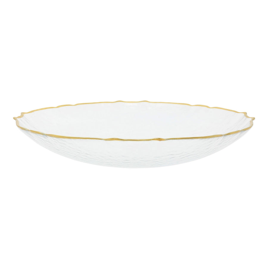 VIETRI: Baroque Glass Clear Medium Bowl