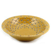 DOLFI CARAMEL BLUE DOTS: Round Bowl Centerpiece CARAMEL with Blue dots