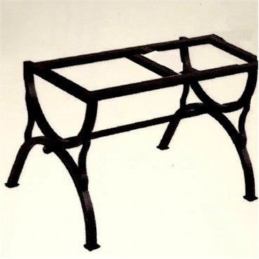 WROUGHT IRON BENCH WITH CERAMIC TOP: Straight model design (seats one)