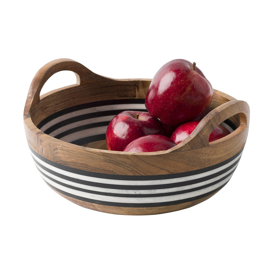 JULISKA: Stonewood Stripe Round Serving Bowl
