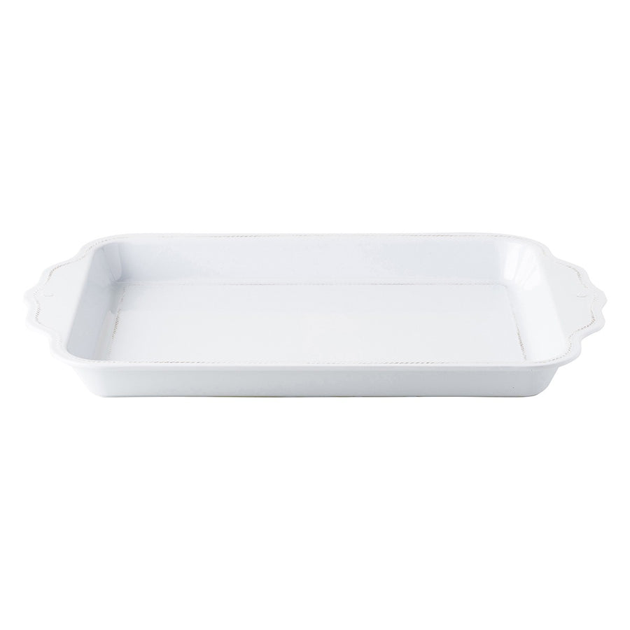 "JULISKA: Berry & Thread Melamine Whitewash 24"" Handled Tray"