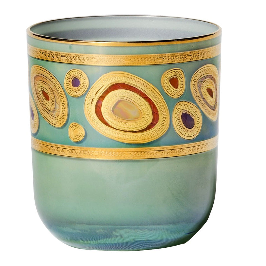 VIETRI: Regalia Water Glass Tumbler Aqua Green
