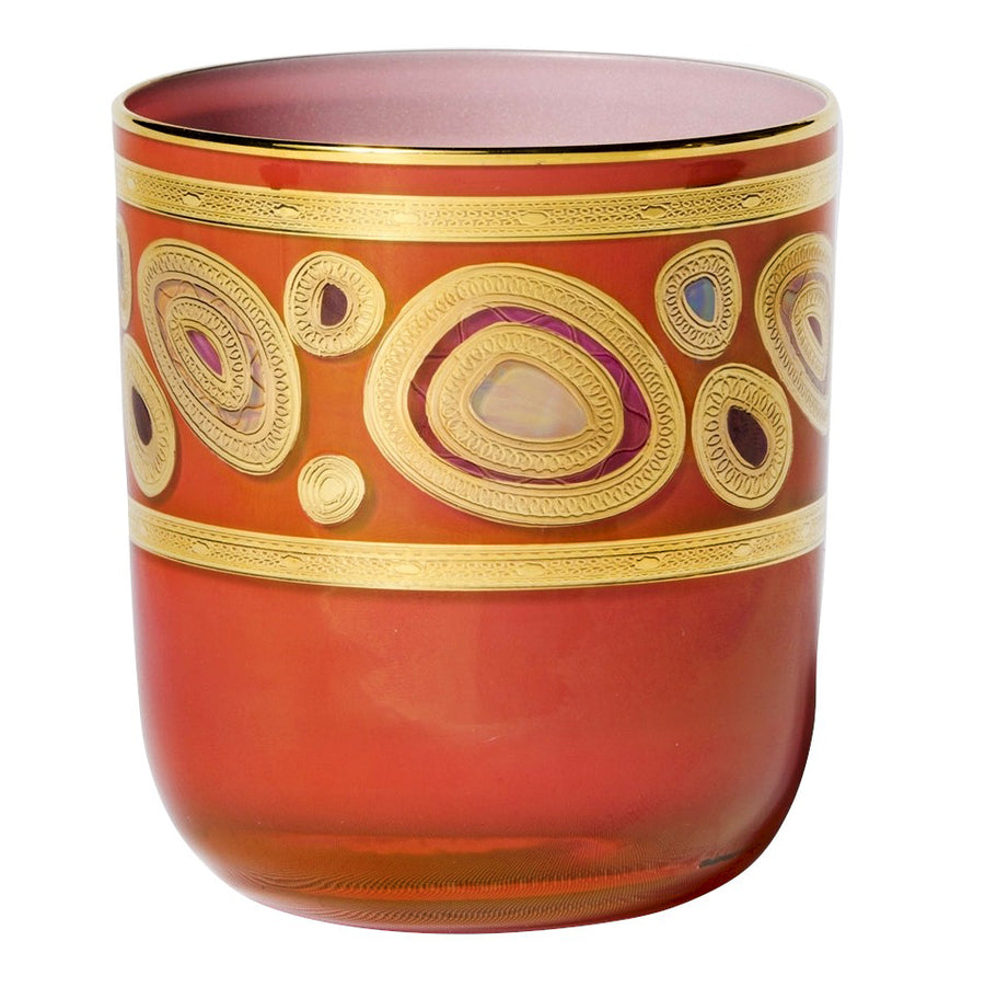 VIETRI: Regalia Water Glass Tumbler Orange