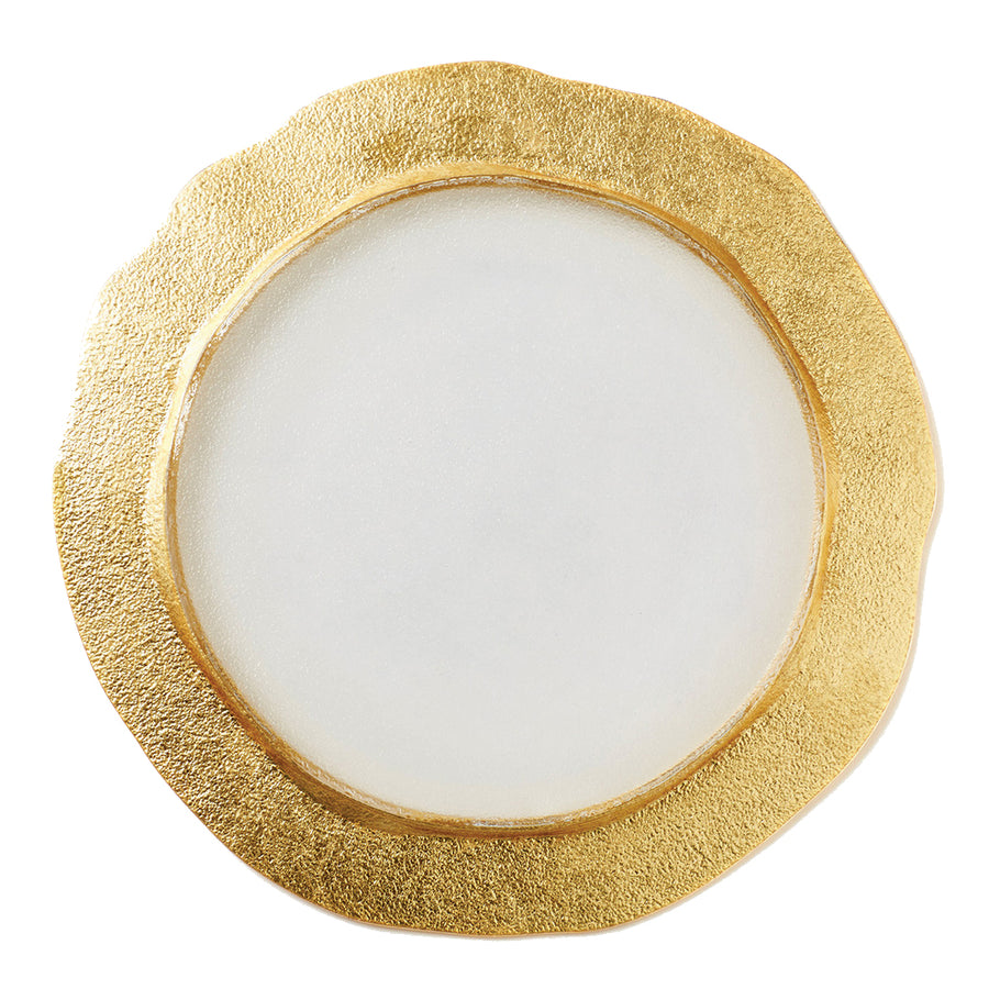 VIETRI: Rufolo Glass Gold Organic Service Plate Charger (Sold as Set of 4)