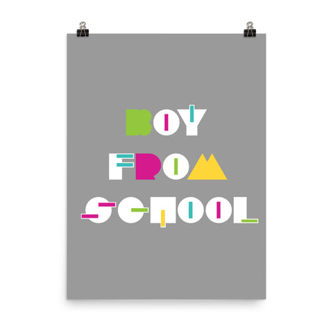Boy From School Saturn Poster