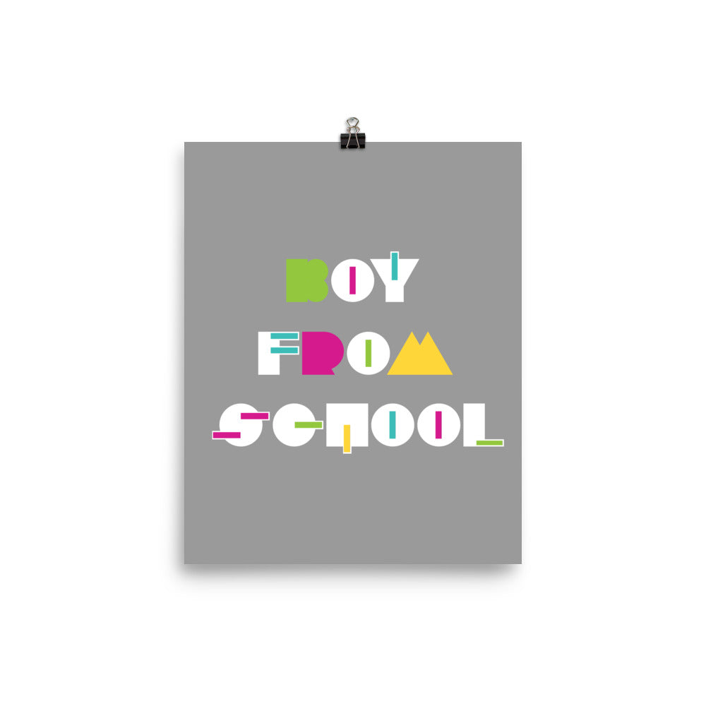 Boy From School Colorblock Poster