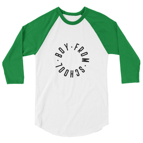 Boy From School 3/4 sleeve raglan shirt