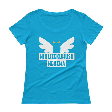 Ask me about Grace Swahili Ladies' Scoopneck T-Shirt
