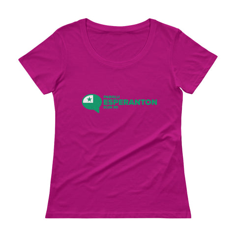 Speak Esperanto to me Ladies' Scoopneck T-Shirt
