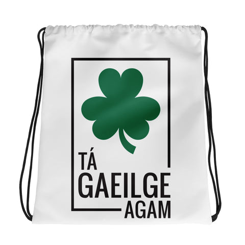 I speak Irish Drawstring bag