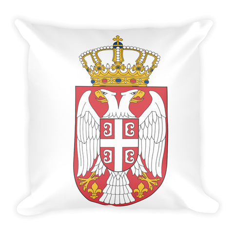 Serbian Crest Square Pillow