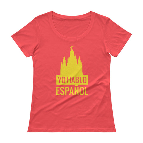 I speak Spanish Ladies' Scoopneck T-Shirt