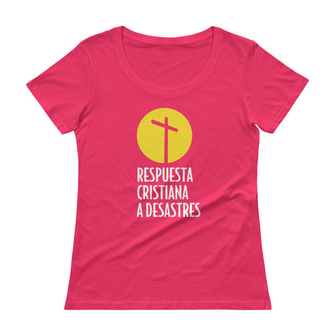 Christian Disaster Response Ladies' Scoopneck T-Shirt