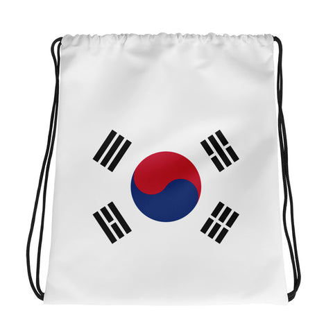 Korean Flag Drawstring bag