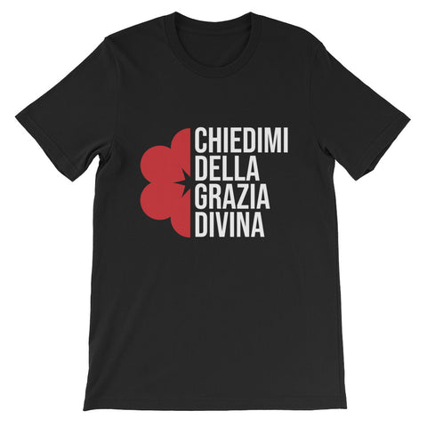 Ask me about Grace - Italian -Short-Sleeve Unisex T-Shirt