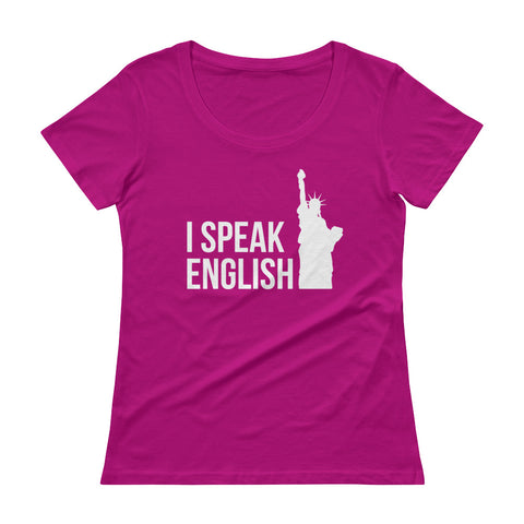 I speak English Ladies' Scoopneck T-Shirt