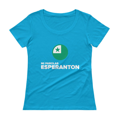 I speak Esperanto Ladies' Scoopneck T-Shirt