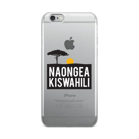 I speak Swahili iPhone Case